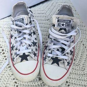 Converse All Stars red/white blue stars Men's Sz 6